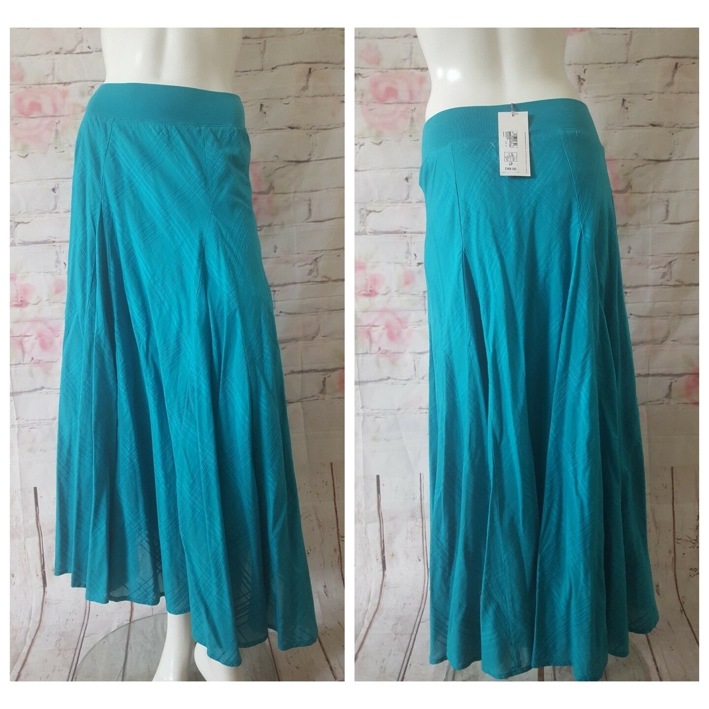 PER UNA M&S LADIES SUMMER HOLIDAY LONG SKIRTS,UK10,TURQOUISE,RRP.50,NEW