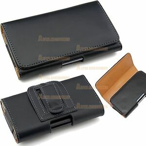 Belt-Clip-Loop-Hip-Holster-Leather-Flip-Pouch-Case-Cover-Smart-Cell-Phone-039-s-HTC
