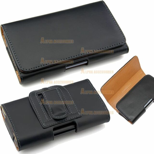 Belt Clip Loop Hip Holster Leather Flip Pouch Case Cover Smart Cell Phone's HTC