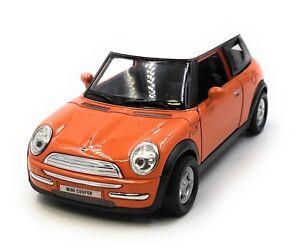 Modellino-Auto-Mini-Cooper-Arancione-Auto-1-3-4-39-Licenza