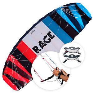 NEU Flexifoil 3.5m² Rage Kite 2021 Sport drachen mit Leinen und Griffen
