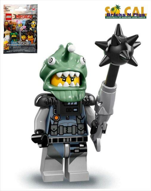 D4 NINJAGO SHARK ARMY GREEN ANGLER fits lego figure