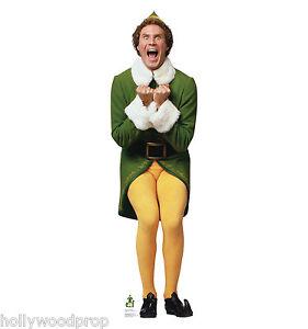 ELF WILL FERRELL BUDDY CHRISTMAS LIFESIZE STANDUP STANDEE CUTOUT ...