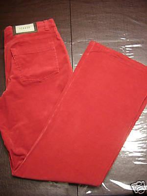 NWT  Feraud rot Corduroy Stretch Stiefel Cut Pants, 44 12