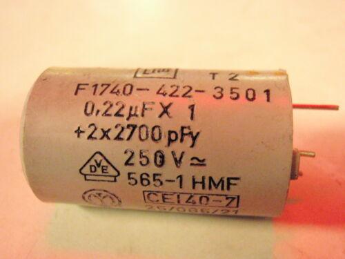 2x appareils électriques Entstörkondensator 0,22uf 2x2700pf 250 V AC 1178