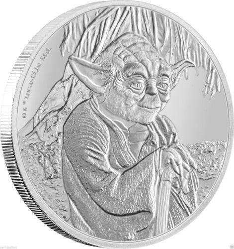 1oz Silver Proof Yoda Star Wars New Zealand Mint 2016 $2 Niue