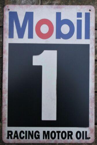 Mobil 1 Voiture Métal Tin Signe Vintage Cafe Pub Bar Garage Decor Poster