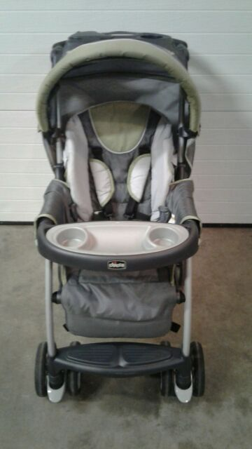 Open Box Chicco Liteway Compact Stroller w// 3D Fold for Easy Transport Almond