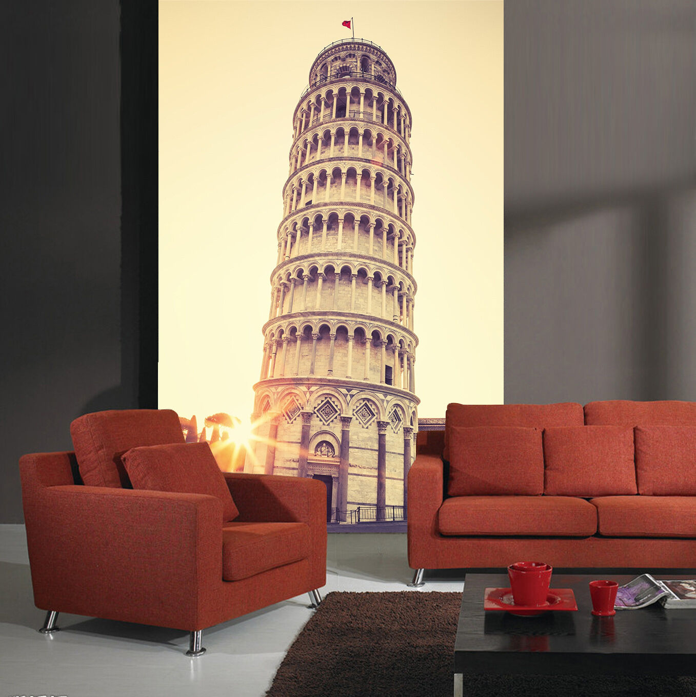 3D Leaning Tower 616 WallPaper Murals Wall Print Decal Wall Deco AJ WALLPAPER