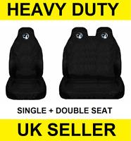 NEW VAUXHALL Black Van Seat Covers Protectors 2+1 100% WATERPROOF Black - MOVANO