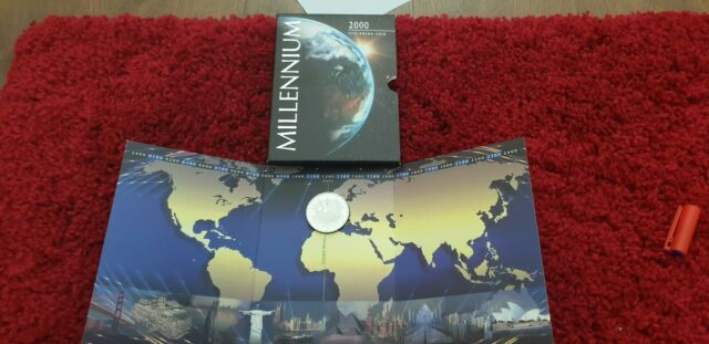 Royal Mint Brilliant Uncirculated 2000 'Millenium' Five Pound, £5, Coin Pack.