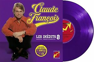 """Claude François 10""""+CD Les inédits 8 - Edition limitée 500 ex, Vinyle violet"""