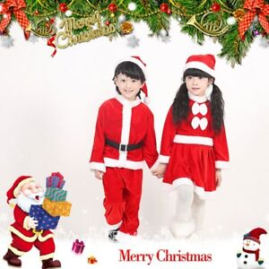 image is loading kids christmas suit costume xmas santa claus girl - Santa Claus Kids