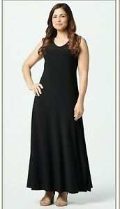 Attitudes-by-Renee-Petite-Como-Jersey-Maxi-Dress-Black-PL-A347505