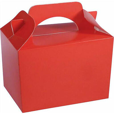 20 Red Party Boxes - Food Loot Lunch Cardboard Gift Wedding/Kids