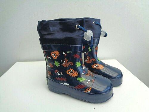 Playshoes Children Fur Lined Wellington Boots Boots Girls Boys Size UK Infant 4