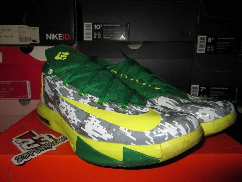 NIKE ZOOM KD VI 6 OREGON DUCKS DIGITAL CAMO ARMED FORCE PE SIZE 12 The most popular shoes for men and women