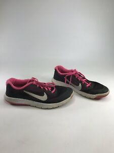 a7514960b04c Nike Girls Youth Flex Experience RN4 Running Shoes Black Pink White ...