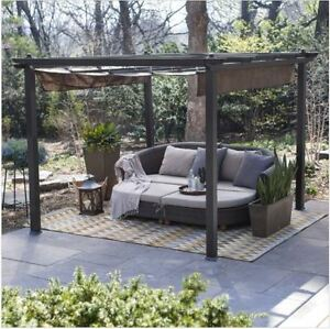 Pergola Kit Canopy Cover Metal Gazebo Patio Furniture Backyard