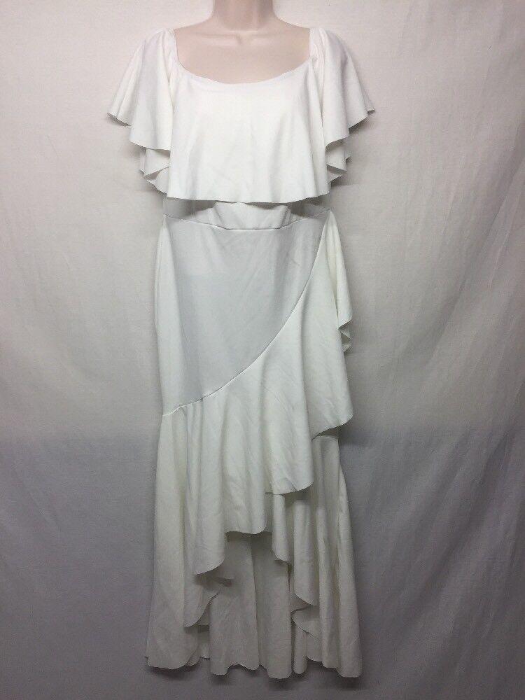 Club de Londres à encolure danseuse Ivoire robe sans manches Größe 14US e10