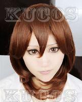 66 Uta no Prince-sama Kotobuki Reiji Short brown cosplay wig+ free wig cap