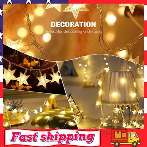 33FT 8 Modes Star Fairy Lights 100 LED Plug in String Lights for Indoor Outdoor