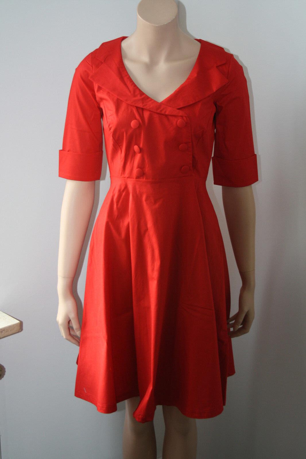 Lien & Giel, Sommerkleid, rot, 60er Jahre Stil, Kurzarm SALE %%
