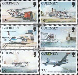 GB-Guernsey-453-458-kompl-Ausg-postfrisch-1989-Flughafen