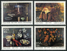 South Africa 648-651, MI 665-668, MNH. Paintings by Frans David Oerder, 1985