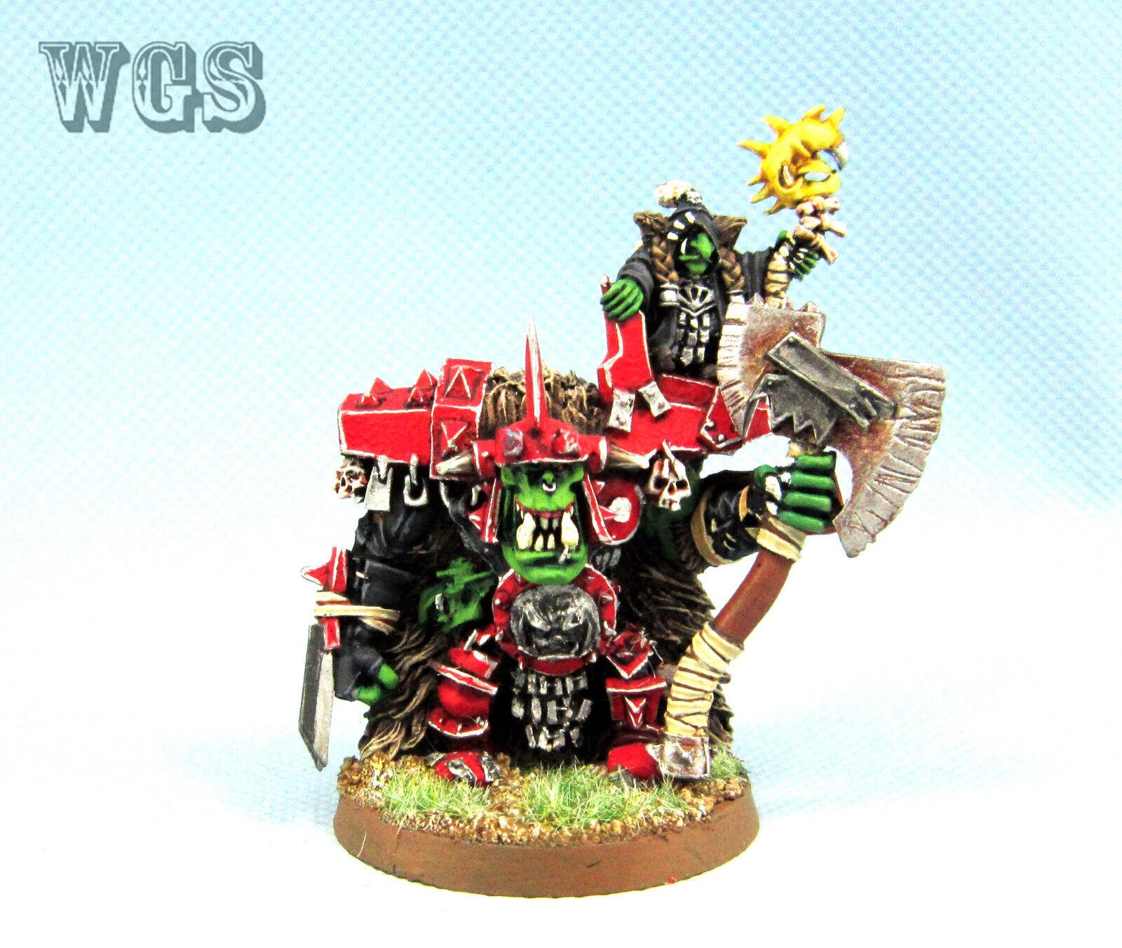 25mm Warhammer WGS painted Orcs & Goblins Grumlok & GazBorsa OR033