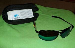 Costa Del Mar Shipmaster Polarized Sunglasses 580P Satin Black//Green Mirror