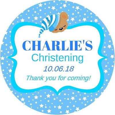 Acquista A Buon Mercato Personalised Baby Boy Christening, Baby Shower Gloss Party Bag Favour Stickers Buoni Compagni Per Bambini E Adulti