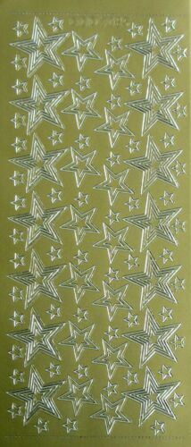 Stars Within Stars Outline Christmas PEEL OFF STICKERS School Rewards Star