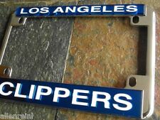 Motorcycle License Plate Frame - Los Angeles Clippers - Chrome Laser Cut - LA