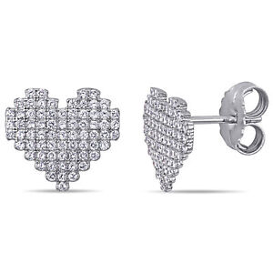 Amour-Sterling-Silver-Cubic-Zirconia-Clustered-Heart-Stud-Earrings