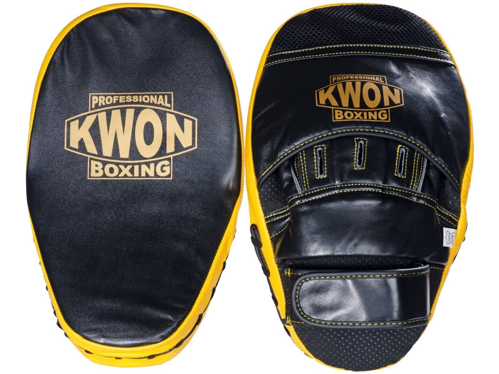 Kwon Doppelpratze Leder.  Boxen, Training, Kampfsport, MMA, Muay Thai,