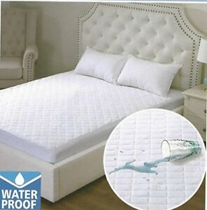"""Luxury Waterproof Quilted Mattress Protector Extra Deep 12/"""" Single Double King"""