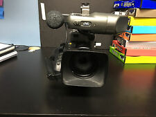 JVC GY-DV5000 Camcorder with Canon YH16x7K12U lens, mic, and viewfinder
