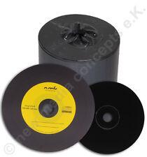 Vinyl CD Rohlinge Carbon,100 in Cake,700 MB zum archivieren, Dye schwarz Gelb
