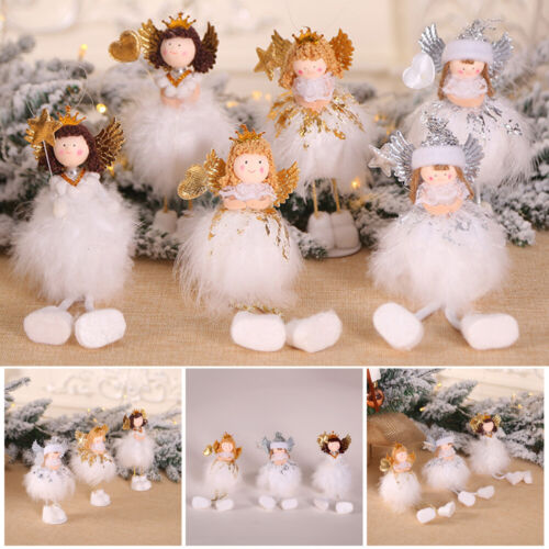 Tree Embellishment Angel Doll Lovely Girl Christmas Decoration Drop Ornament