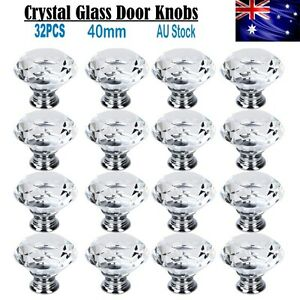 32X-40MM-Clear-Crystal-Glass-Door-Knobs-Furniture-Drawer-Cabinet-Kitchen-Handles