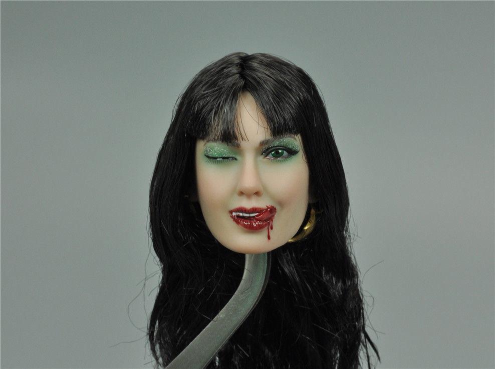 1/6th Head Sculpt Female Girl TBLeague SHCC 2017 Vampirella B For 12
