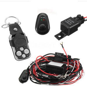 Details About 40a 12v Wiring Kit With Wireless Remote Control For Led Light Bar Offroad 2 Lead