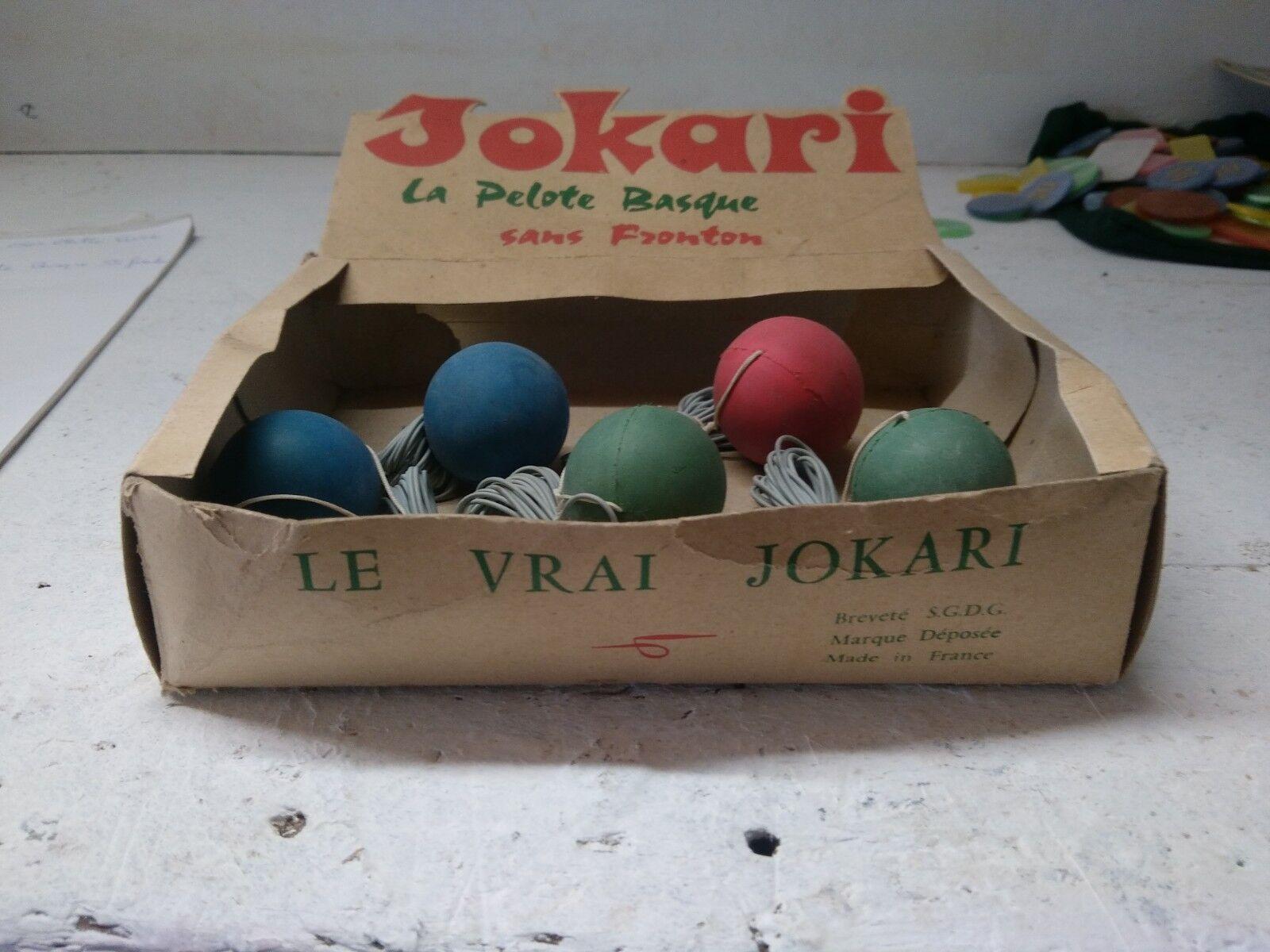 LE VRAI JOKARI boules NEUVES JEUX support pub la pelote basque sans frontons jeu