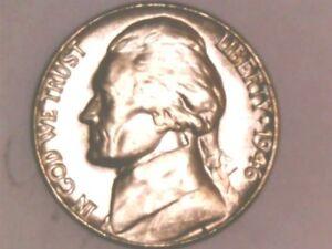 1946D JEFFERSON NICKEL BU.