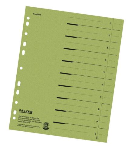 Trennblätter Register Einleger FALKEN für A4 Ordner 24x30 ab 0,20€//Stk #