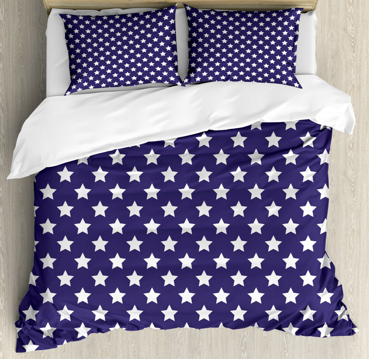 American Duvet Cover Set with Pillow Shams Flag Symbol with Stars Print