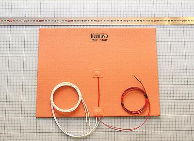 KEENOVO Homebrewing Mash Tun Silicone Heater 165W 120V C Shape