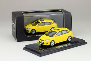 1-64-Scale-Ford-Focus-2007-Yellow-Diecast-Car-model-Collection-Toy