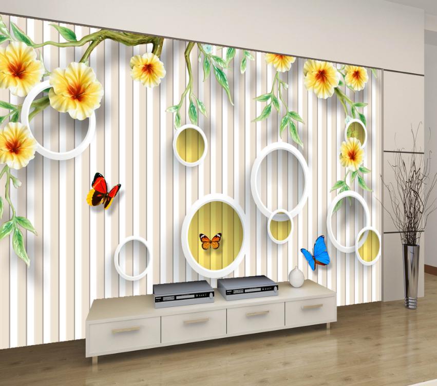 3D Gestreifter Schmetterling 7 Tapete Wandgemälde Tapete Tapeten Bild Familie DE
